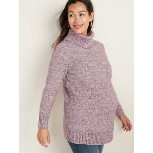 Maternity Turtleneck Tunic Sweater