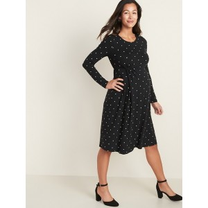 Maternity Pleated-Front Jersey Dress