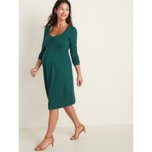 Maternity Fit & Flare Ponte-Knit Dress