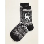 Fair Isle Crew Socks for Women