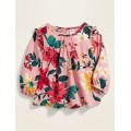 Printed Ruffle-Trim Blouse for Baby