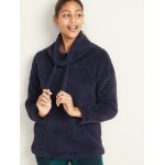 Cozy Sherpa Lounge Pullover for Women