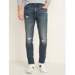 Skinny Built-In Flex Distressed Jeans for Men
