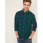 Regular-Fit Built-In Flex Patchwork-Plaid Everyday Shirt for Men