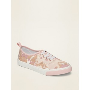 Lace-Up Twill Sneakers for Girls