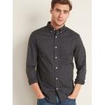 Slim-Fit Built-In Flex Dot-Print Everyday Shirt for Men