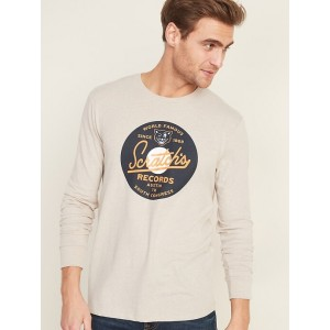 Graphic Long-Sleeve Tee for Men
