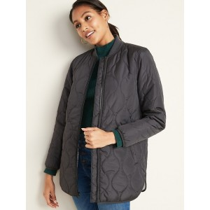 Water-Resistant Sherpa-Lined Quilted Jacket for Women