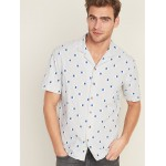 Regular-Fit Built-In Flex Printed Getaway Shirt for Men