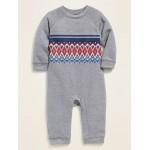 Fair Isle Sweatshirt One-Piece for Baby