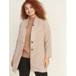 Oversized Plus-Size Textured Cardi Coat