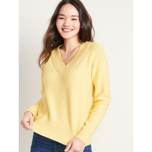 Cozy Boucle V-Neck Sweater for Women