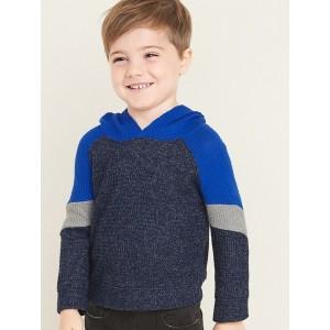 Color-Block Raglan Thermal Hoodie for Toddler Boys