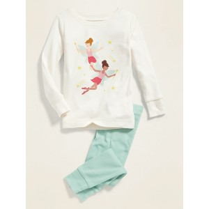 Fairy Princess Graphic Pajama Set for Toddler Girls & Baby