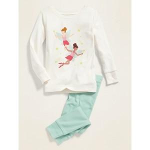 Fairy Princess Graphic Pajama Set for Toddler Girls & Baby