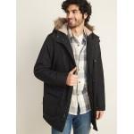 Hooded Faux-Fur Trim Parka for Men
