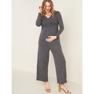 Maternity Twist-Front Tie-Waist Jumpsuit