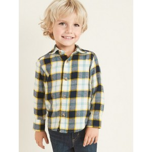 Plaid Flannel Long-Sleeve Shirt for Toddler Boys