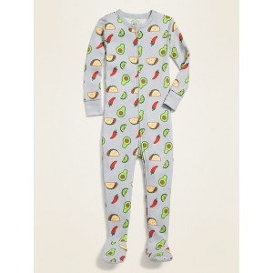 Avocado-Print Footie Pajama One-Piece for Toddler & Baby
