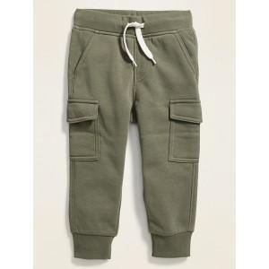 Fleece-Knit Cargo Joggers for Toddler Boys