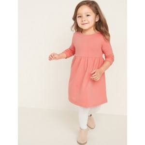 Solid Fit & Flare Dress for Toddler Girls