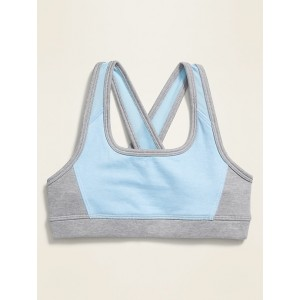 Go-Dry Soft-Brushed Cross-Back Sports Bra for Girls