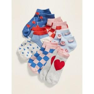 Fashion Ankle Socks 6-Pack for Girls