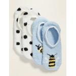 Cozy Gripper Sneaker Socks 2-Pack for Women
