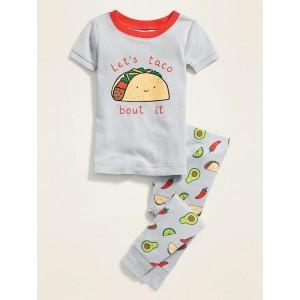Food-Print Pajama Set for Toddler Boys & Baby