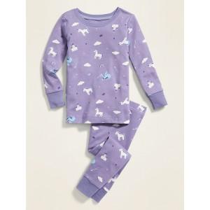 Unicorn-Print Pajama Set for Toddler Girls & Baby