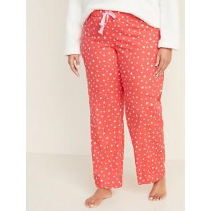 Mid-Rise Plus-Size Printed Poplin Pajama Pants