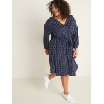 Waist-Defined Plus-Size Ponte Knit Dress