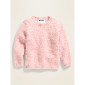 Fitted Fuzzy Sweater for Toddler Girls