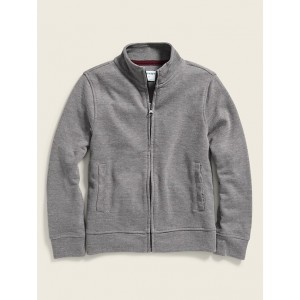 French-Rib Zip-Front Sweater Jacket for Boys