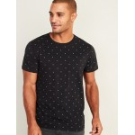 Printed Soft-Washed Crew-Neck Tee for Men