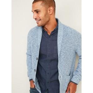 Textured Shawl-Collar Cardigan for Men