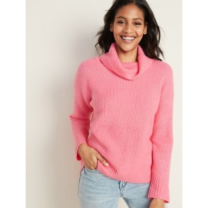 Slouchy Turtleneck Sweater for Women