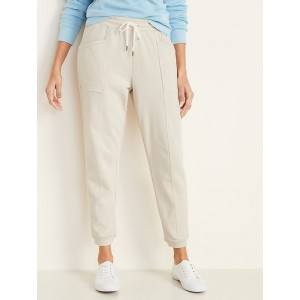 Mid-Rise French-Terry Utility Joggers for Women
