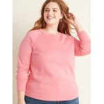 Relaxed Plus-Size Vintage Crew-Neck Sweatshirt