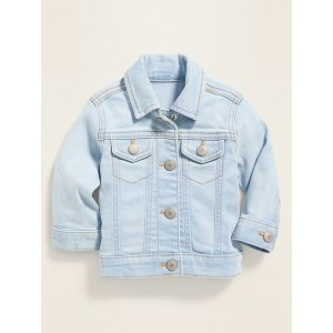 Light-Wash Jean Jacket for Baby