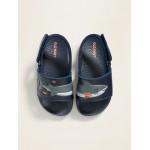 Critter-Graphic Pool Slide Sandals for Toddler Boys