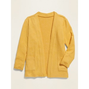 Plush-Knit Open-Front Cardigan Sweater for Toddler Girls