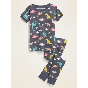 Dino-Print Pajama Set for Toddler & Baby