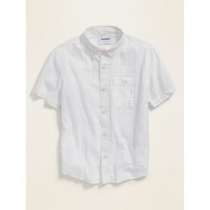 Textured Dobby Short-Sleeve Shirt for Boys