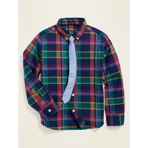 Built-In Flex Shirt & Tie Set for Boys