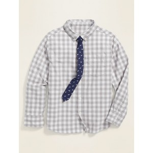 Built-In Flex Shirt & Tie Set for Boys