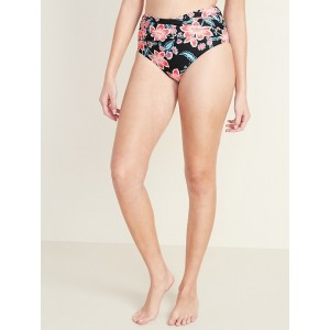 High-Waisted Wrap-Front Swim Bottoms for Women