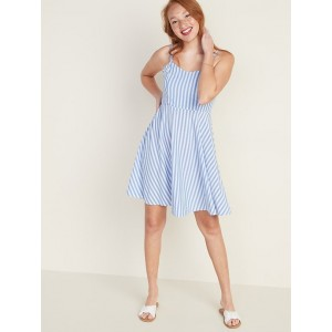 Striped Fit & Flare Cami Dress for Women