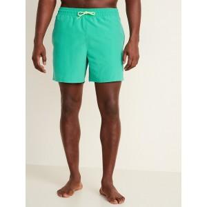 Solid-Color Swim Trunks for Men  6-inch inseam