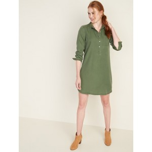 Tencel® Chest-Pocket Shirt Dress for Women